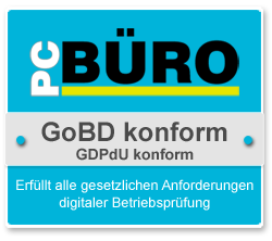 PC BÜRO ist GoBD und GDPdU konform